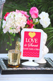 Pink BRIDAL SHOWER - Bridal SIGNS - Love is Sweet