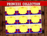 SNOW WHITE PARTY - PRINCESS Party- Princess Birthday- FOOD Label - Girl