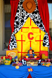TOY Party- FAVOR- COWBOY Birthday- Story Book- Cowprint
