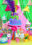 WONDERLAND Birthday Party- BANNER- MAD HATTER Party