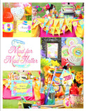 WONDERLAND Birthday Party - THANK YOU TAGS - MAD HATTER Party - Alice Party