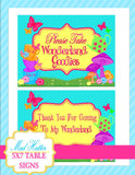 WONDERLAND Birthday Party- ALICE INVITATION- MAD HATTER Invite