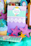 Mermaid Birthday - Mermaid THANK YOU TAGS- Princess Party
