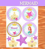Mermaid Birthday- Princess Party- Mermaid Party- Mermaid FAVOR BAG- Mermaid Printables- INSTANT Download