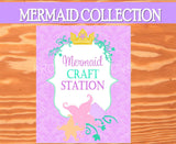 Mermaid Party SIGN - Mermaid Printables - Ocean Party