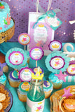 Mermaid Birthday - Princess CROWNS - Mermaid Princess Party