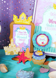 Mermaid Birthday - Princess Party - Girl Birthday - Mermaid Party- Mermaid Printables - DRINK SIGNS - INSTANT Download