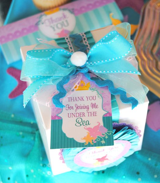 Mermaid Birthday - THANK YOU TAGS- Princess Party - Girl Birthday - Mermaid Party- Mermaid Printables - INSTANT Download