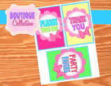 Bowtique Party - PINK MOUSE Birthday Party - Bowtique - Mouse Party - Mouse SIGNS