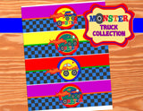 MONSTER Truck - Monster Truck Printables - Truck BOTTLE LABELS