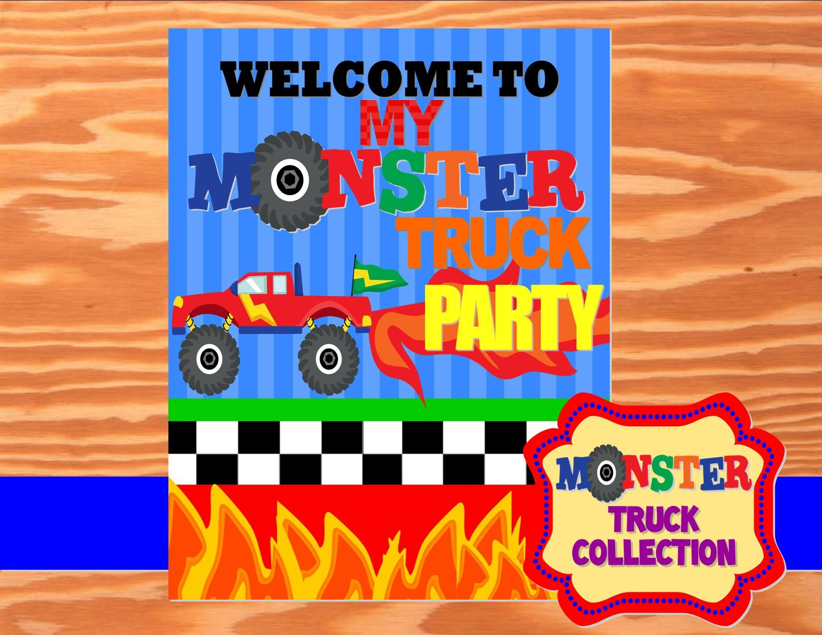 MONSTER Truck - Monster Truck WELCOME SIGN - Truck Party