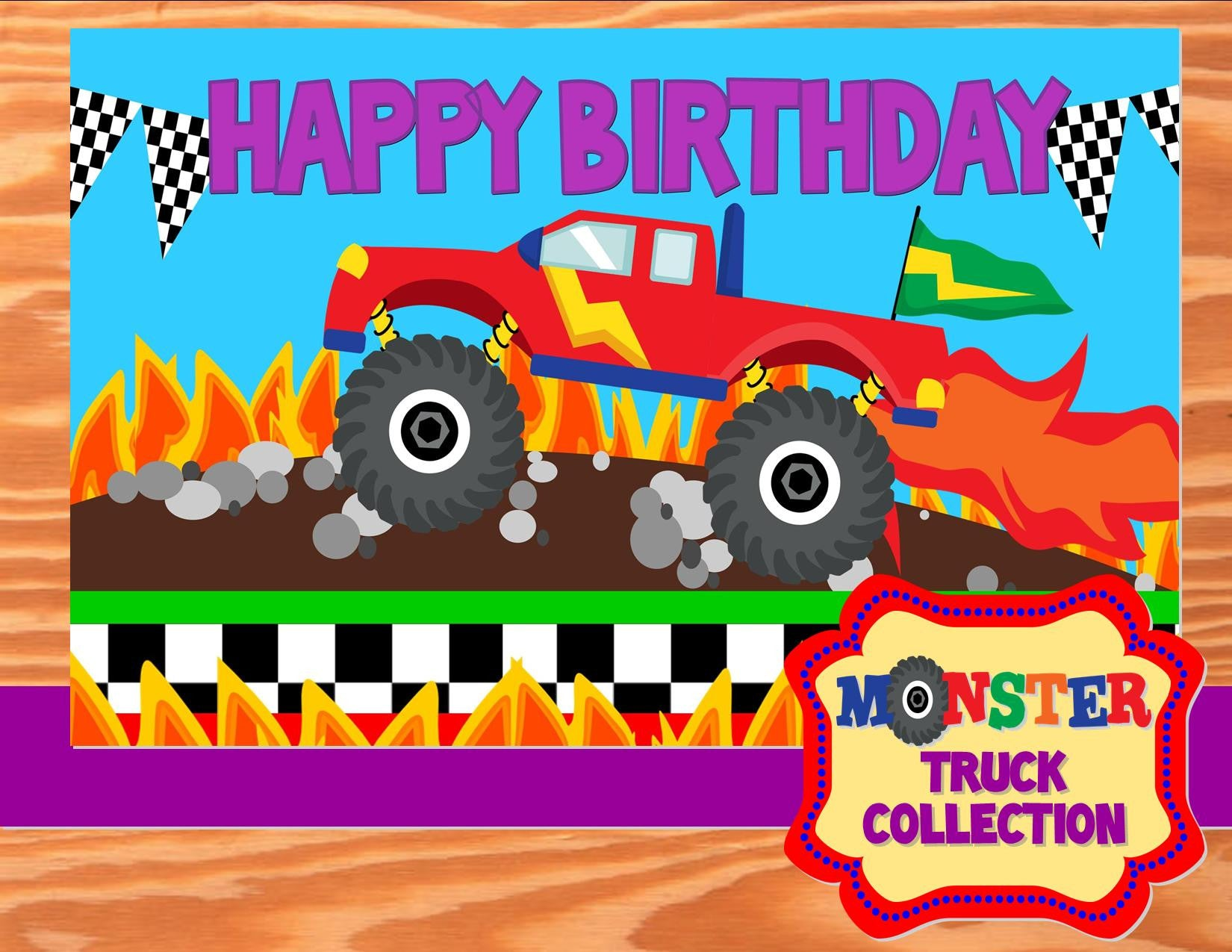 MONSTER TRUCK Party - Monster Truck CANDY LABELS - Monster Jam Party ...