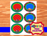 MONSTER TRUCK Party - Monster Truck CANDY LABELS - Monster Jam Party - Race Car Party - Truck Party