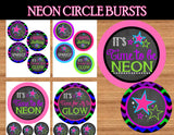 NEON Party- Glow In the Dark BANNER - Teen Party Printables- Glow in the Dark- 80's Party Printables- Tween Party
