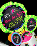 NEON PARTY- Diva- Rock Star- GLOW- 80's Party- Neon Birthday THANK YOU