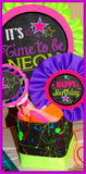 NEON PARTY- NEON SIGNS- Girls Birthday- Diva- Rock Star- Tween- Glow in the Dark