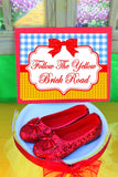 RAINBOW PARTY - Red Slippers - Dorothy THANK YOU TAGS