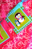 CHRISTMAS Cupcake Toppers- PENGUIN- Holiday Party- Bright Christmas Party