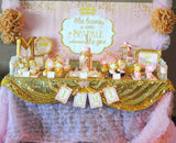 PRINCESS Birthday - Gold HEARTS - She Leaves Sparkle- Gold Glitter - Princess Party- Pink