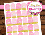 BRIDAL SHOWER - TAGS - Pink Wedding - Gift Tags