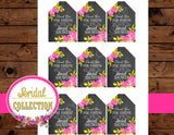 Bridal Shower- GAME- CHALKBOARD- PURPLE- Wedding- Black and White Stripe