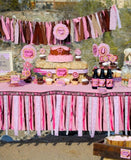 COWGIRL Party- Horse Birthday- Pink Cowgirl Birthday Party- FLAGS