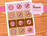 PINK COWGIRL Party - CUPCAKE TOPPERS - Girls Birthday Party - Pink - Printables - INSTANT Download