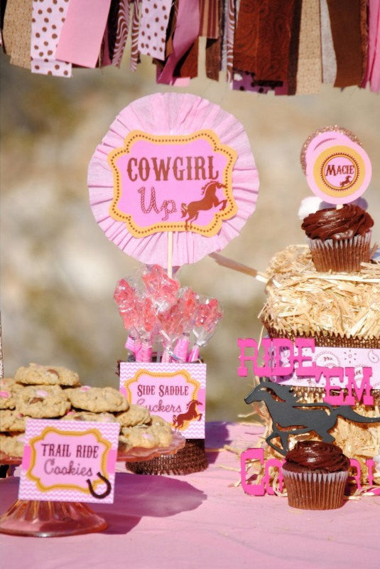 COWGIRL Party- Horse Party- Pink Cowgirl- Cowgirl BURST