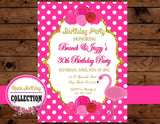 Flamingo INVITATION - Flamingo Invite - Flamingo Birthday - Pink Flamingo