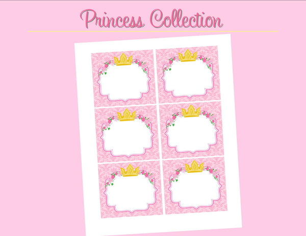 Pink Princess Party - LABELS - Bridal Shower - Birthday ...