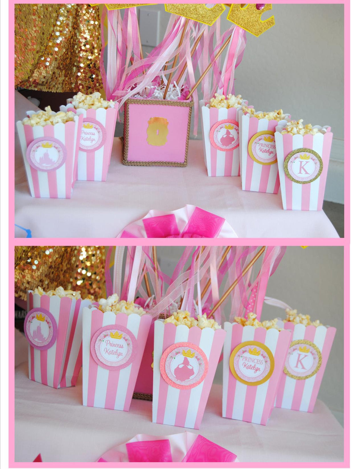 PINK PRINCESS Party- THANK YOU TAGS- Bridal Shower- Birthday Party ...