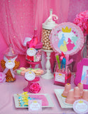 PRINCESS Party - BACKDROP - Girls Birthday Party - Pink