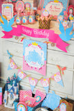 PRINCESS Party - Princess Birthday Party - BURSTS - Blue