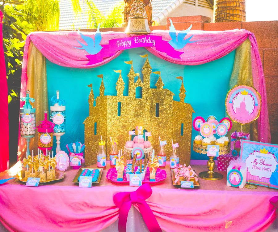 ... PRINCESS Party   BACKDROP   Girls Birthday Party   Pink ...