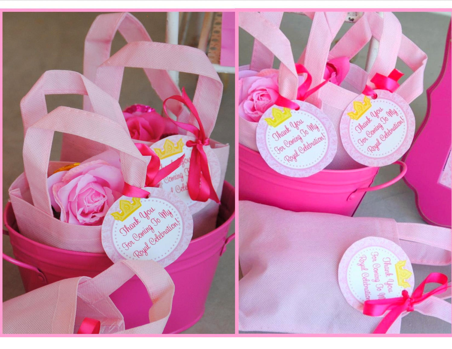 Princess Party Decoration Pink Princess Party Thank You Tags Bridal Shower Birthday Party