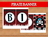 PIRATE Party - Pirate Birthday Party - Pirate COMPLETE- Red Pirate Party- Pirate Decorations