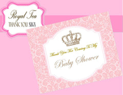 BABY SHOWER - THANK YOU SIGN- Pink- Princess Party- Pink Baby Shower