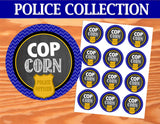 POLICE Party- Patrol Birthday- Policeman-  Police COP CORN CIRCLES