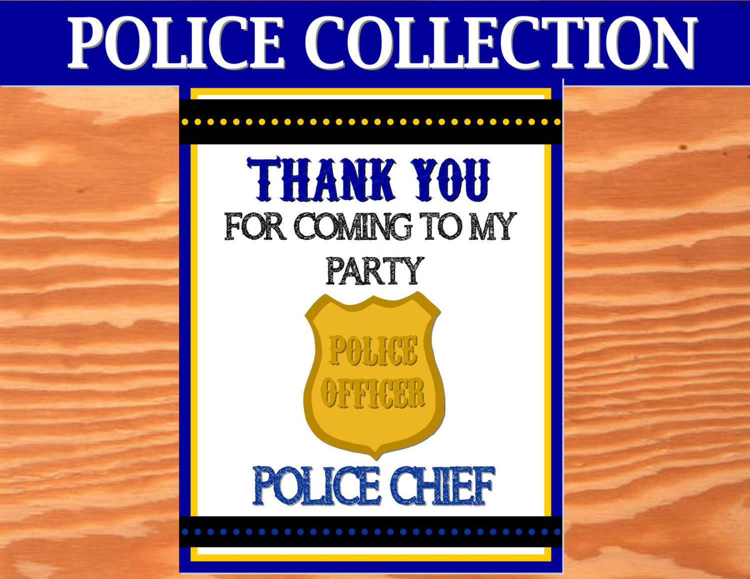 POLICE Party- Policeman- Police Man THANK YOU- Officer