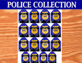 POLICE Party - Police THANK YOU TAGS - Patrol Officer