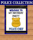 POLICE Party - Police WELCOME SIGN - Police Birthday