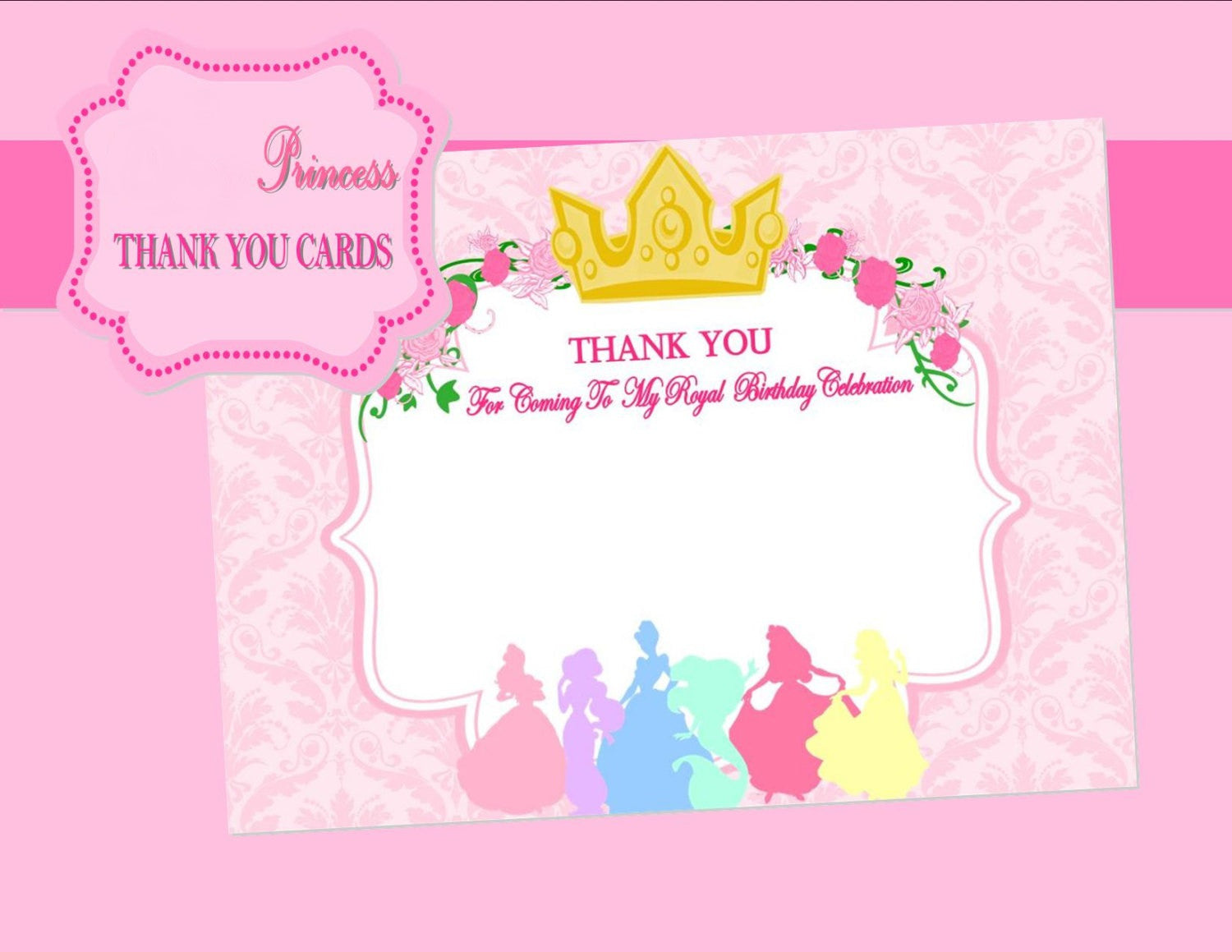 PRINCESSES Birthday - THANK YOU - Princess Printables