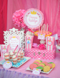 PRINCESSES Party - SIGNS- Girls Birthday Party - Pink - Printables - INSTANT Download