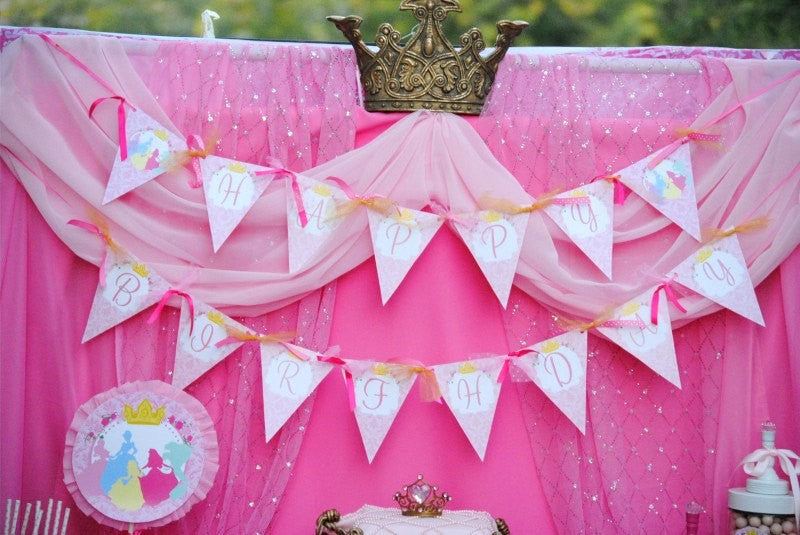 PRINCESSES Birthday - BURSTS - Princess Printables