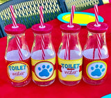 PUPPY PARTY - Dog Adoption Party - Puppy Birthday - Dog BOTTLE Labels -Dog Party