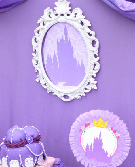 PURPLE- SILHOUETTES- Printable- Princess Party - Baby Shower