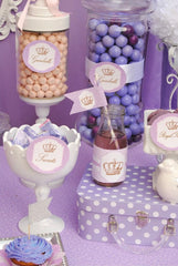 BABY SHOWER - Princess THANK YOU - Princess- Purple Shower