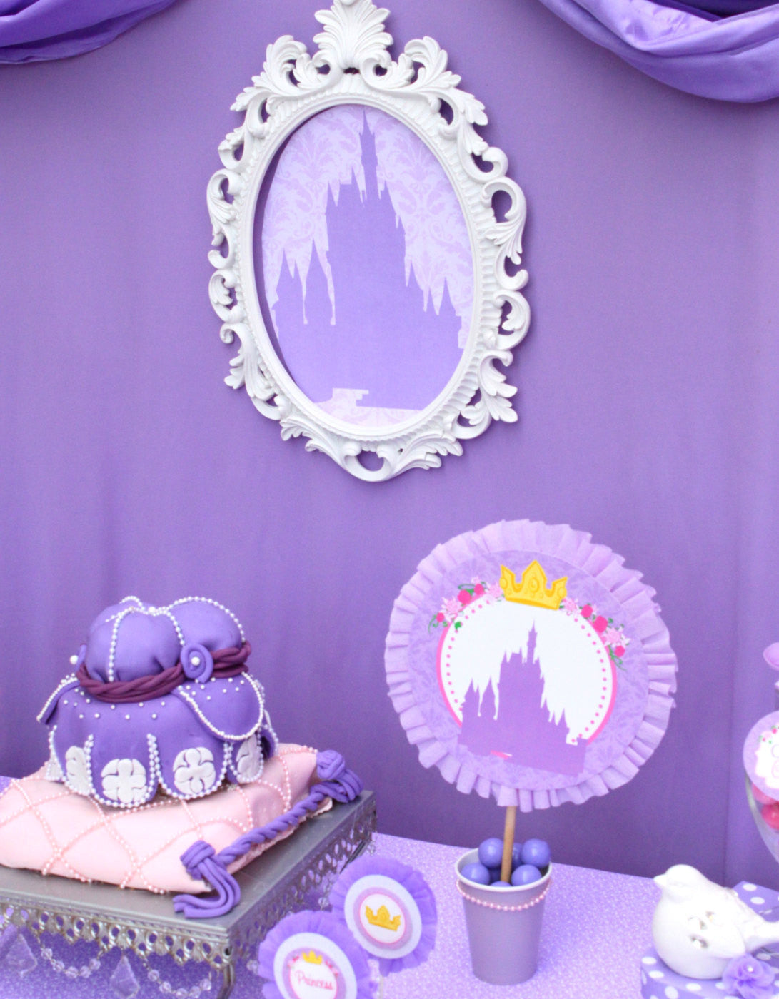 BABY SHOWER - SILHOUETTE - Purple Princess Party- Purple Shower
