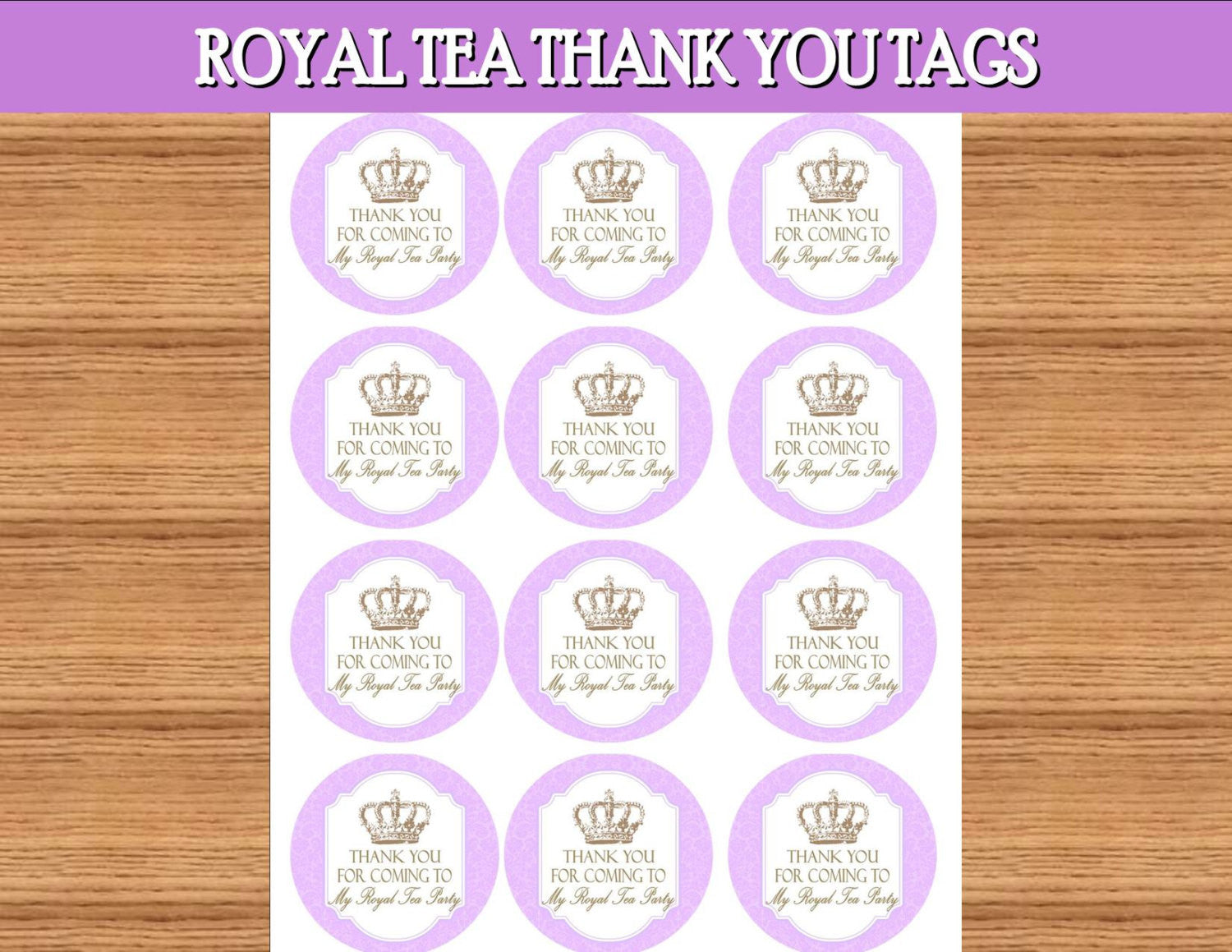 BRIDAL SHOWER - THANK YOU - Purple- BABY- Wedding