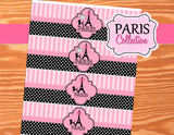 PARIS Birthday Party- Paris BOTTLE LABELS- Paris Party- Pink Poodle Party- Eiffle Tower